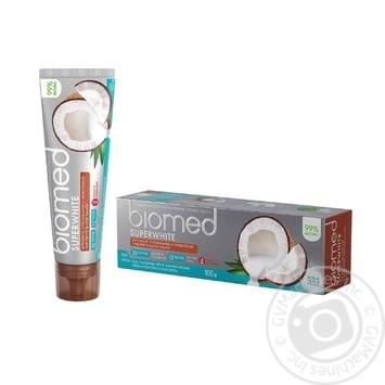 Зубна паста BioMed Superwhite захист від бактерій та карієсу 100мл - купити, ціни на Восторг - фото 3