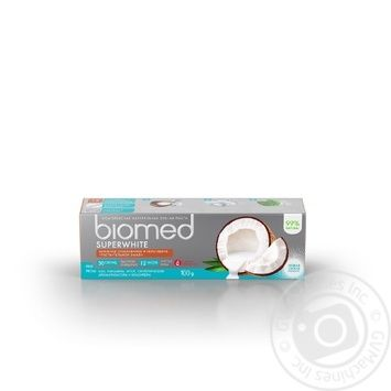 BioMed Superwhite Against Bacteria And Caries Protection Toothpaste 100ml - buy, prices for EKO Market - photo 2