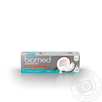 Зубна паста BioMed Superwhite захист від бактерій та карієсу 100мл - купити, ціни на ЕКО Маркет - фото 2