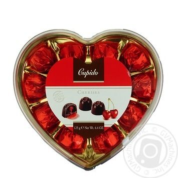 Cupido candy with cherry liqueur 125g - buy, prices for Auchan - image 1