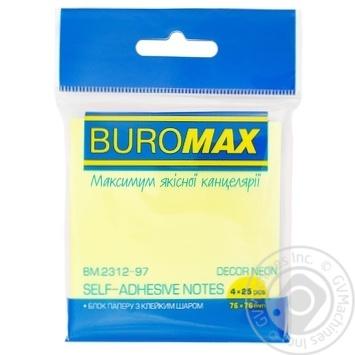 Блок паперу Buromax  для заміток 100 аркушів 76Х76см - купити, ціни на CітіМаркет - фото 1