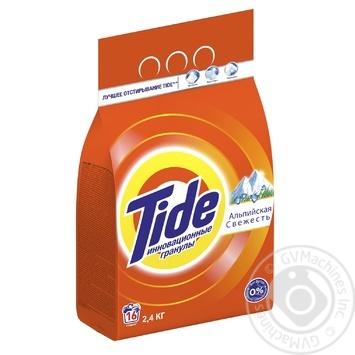 Порошок пральний Tide Альпійська свіжість автомат 2,4кг - купити, ціни на Novus - фото 3
