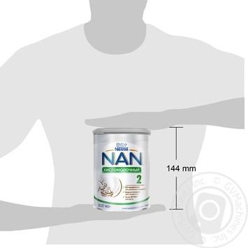 Смесь молочная Nestle Nan 2 Кисломолочный сухая для детей с 6 месяцев 400г - купить, цены на Novus - фото 3