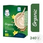 Безмолочная каша Gerber Organic Пшенично-овсяная с ванильным вкусом 240г - купить, цены на Novus - фото 3