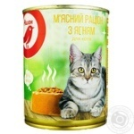 Auchan meat diet with lamb for cats 360g