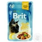 Корм консервированный Brit Premium с филе тунца в соусе 85г