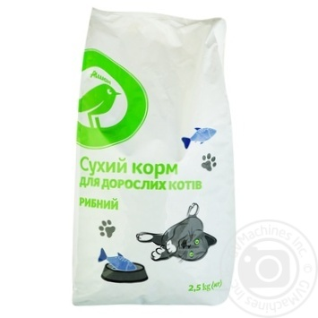 Auchan Dry Сats Food With Fish 2,5kg