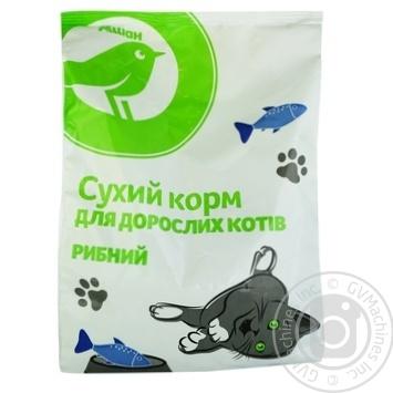 Сухой корм Ашан для взрослых котов рыбный 400г