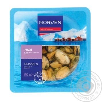 Мидии Norven пряно-пикантные в масле 170г - купить, цены на Таврия В - фото 1