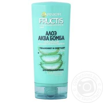 Бальзам-ополаскиватель Garnier Fructis Алоэ Аква Бомба укрепляющий для нормальных волос 200мл - купить, цены на Novus - фото 1