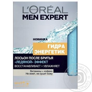 Лосьйон L'Oreal Men Expert Гідра енергетик після гоління 100мл - купити, ціни на МегаМаркет - фото 1
