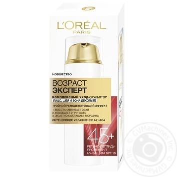 L'oreal Age Specialist +45 Moisturizing Face+Neck+Decollete Cream 50ml