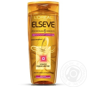 Elseve Shampoo Luxury 6 oils nourishing oils for all hair types 400ml - buy, prices for Auchan - image 1