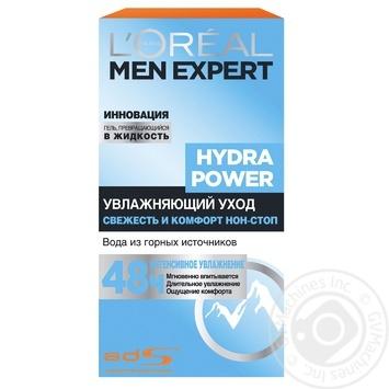 Увлажняющее средство L'oreal Paris Men Expert Hydra Power с освежающим эффектом для лица 50мл - купить, цены на МегаМаркет - фото 1