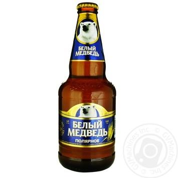 Пиво Белый Медведь Полярное 4,5% 0,45л