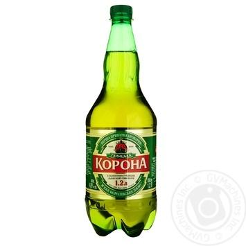Пиво ППБ Галицька Корона світле 4,6% 1,2л - купити, ціни на Ашан - фото 1