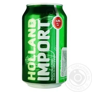 Пиво Holland Import світле з/б 4,8% 0,33л