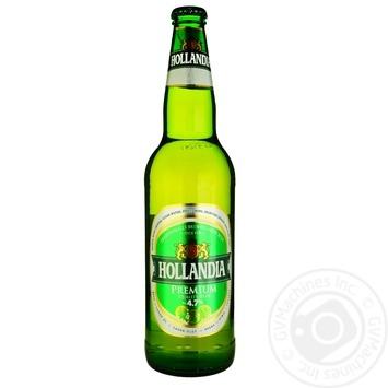 Пиво Голландия светлое стеклянная бутылка 5%об. 650мл Нидерланды