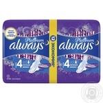 Гигиенические прокладки Always Ultra Platinum Night Duo 12шт - купить, цены на Novus - фото 2
