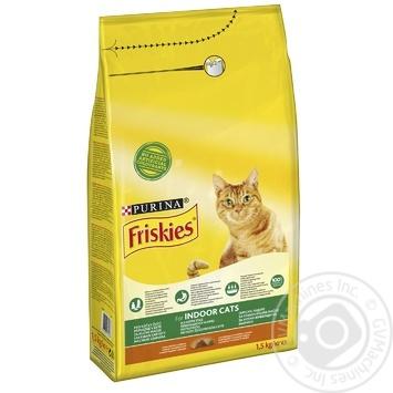 Корм сухий FRISKIES Indoor З куркою та овочами для котів, що живуть вдома 1,5кг - купити, ціни на Novus - фото 1