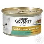 Gourmet Gold Duo Food with Rabbit and Liver for Adult Cats 85g - buy, prices for Tavria V - image 1