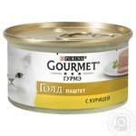 Gourmet for cats canned with chicken pate food 85g