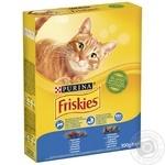 Корм Friskies С лососем и овощами сухой для взрослых кошек 300г