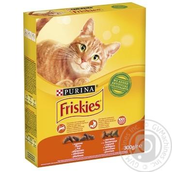 Корм Friskies сухой с курицей и овощами для взрослых кошек 300г - купить, цены на Космос - фото 5