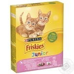Корм сухой Friskies Junior С курицей, молоком и овощами для котят 300г
