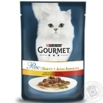 Gourmet Perle Duo with chicken and beef cat food 85g