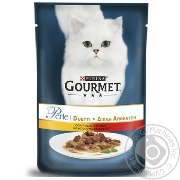 Gourmet Perle Duo with chicken and beef cat food 85g - buy, prices for Tavria V - image 1