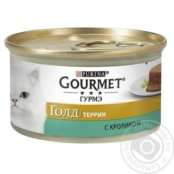 Gourmet for cats canned with rabbit in pate food 85g - buy, prices for Tavria V - image 1