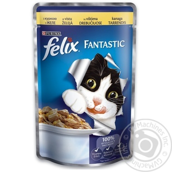 Felix Chicken Canned For Cats Food 100g - buy, prices for Novus - image 1