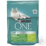 Корм сухой Purina ONE Indoor С индейкой и цельными злаками для взрослых котов 200г