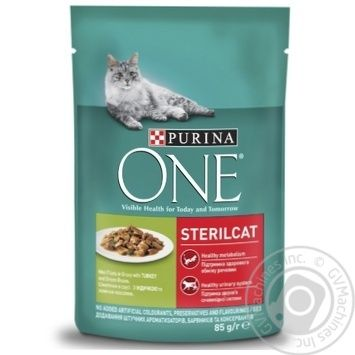 Purina One Sterilcat feed with turkey and green beans for cat 85g - buy, prices for Tavria V - image 1