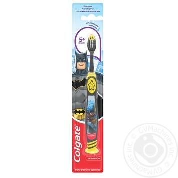 Зубная щетка Colgate Barbie/Batman детская супермягкая 5+ - купить, цены на Фуршет - фото 4