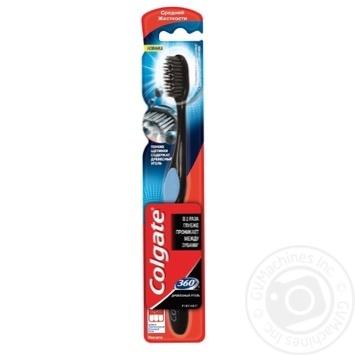 Зубна щітка Colgate 360 Деревне вугілля середньої жорсткості - купити, ціни на Фуршет - фото 5