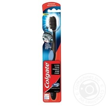 Colgate 360 Charcoal Medium Toothbrush - buy, prices for Furshet - image 5