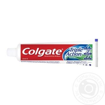Зубная паста Colgate Тройное Действие Натуральная мята 150мл - купить, цены на Novus - фото 4