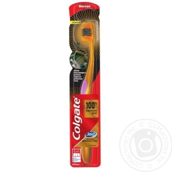 Colgate 360 ° Gold toothbrush with charcoal soft in assortment - buy, prices for Furshet - image 6