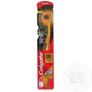 Зубна щітка Colgate 360 Золота з деревним вугіллям багатофункціональна м'яка - купити, ціни на Ашан - фото 4