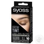 Стойкая краска для бровей SYOSS Brow Tint 3-1 Графитовый черный 17мл
