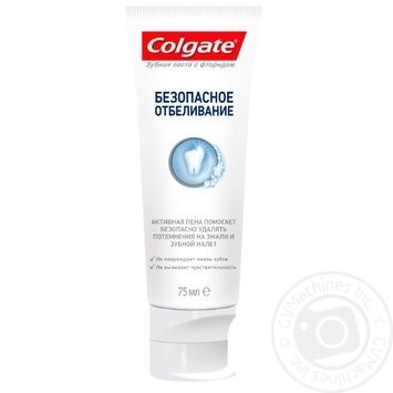 Colgate Toohpaste Safe bleaching with fluoride 75ml - buy, prices for Furshet - image 7