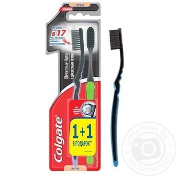 Зубна щітка Colgate шовкові нитки з деревним вугіллям м'яка 1+1 - купити, ціни на Восторг - фото 5