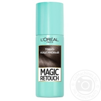 L'Oreal Magic Retouch Spray toning dark brown for instant coloring of adult hair roots 75ml - buy, prices for Novus - image 1