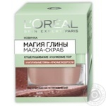 L'oreal Pure Clay + Red Alage For Face Mask-Scrub 50ml - buy, prices for Novus - image 1