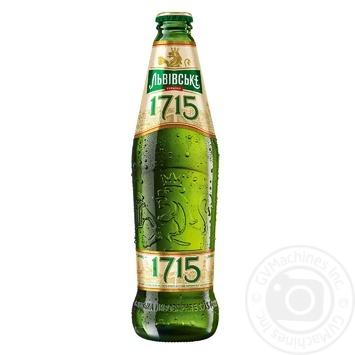 Lvivske 1715 Light Pasteurized Beer 4,7% 0.45l - buy, prices for Furshet - image 1