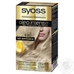 Syoss Oleo Intense 9-11 Cold Blonde Ammonia Free Hair Due 115ml