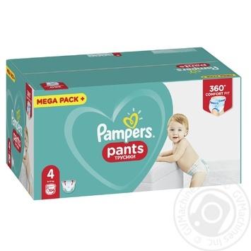 Подгузники-трусики Pampers Pants 4 Maxi 9-15кг 104шт - купить, цены на Метро - фото 3