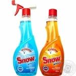 Спрей для миття скла Snow Яскраве небо 500мл + Цитрусова свіжість 500мл - купити, ціни на Ашан - фото 1